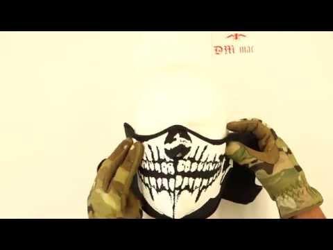 Masque néopréne demi type tête de mort noir 67129 DMdiffusion