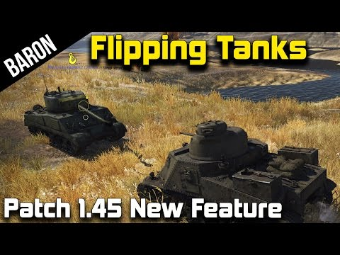 War Thunder 1.45 – Flipping Tanks, Tow Cables & Grappling Hook Tests! (M3 Lee & M4A2 Sherman)