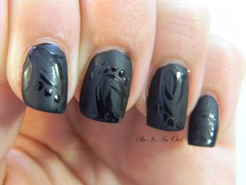 nail art total black