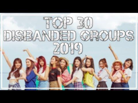 Top 30 Disbanded KPOP Groups - 2019