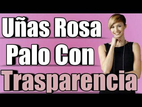 Videos de uñas - uñas rosa palo con trasparencia super bonitas