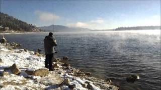 Big Bear Lake (CA) United States  city pictures gallery : Frigid Fishing Big Bear Lake,CA 11-28-15