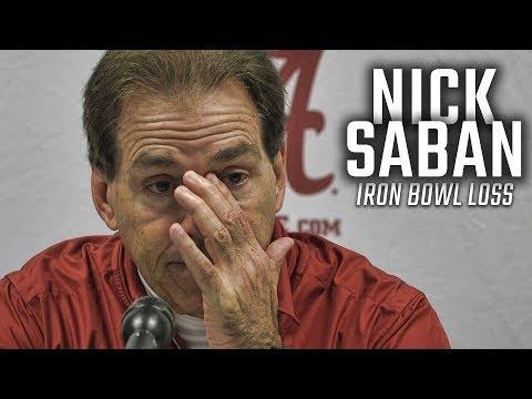 Watch Nick Saban address the media after loss to Auburn