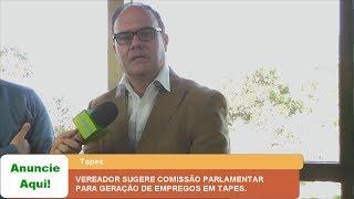 VEREADOR SUGERE COMISSÃO PARLAMENTAR PARA GERAÇÃO DE EMPREGOS EM TAPES.