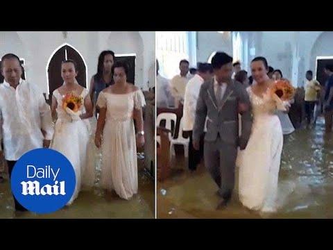 Γάμος σε πλημμυρισμένη εκκλησία!