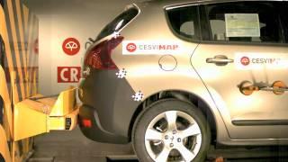 Bumper test trasero Peugeot 3008 en Cesvimap