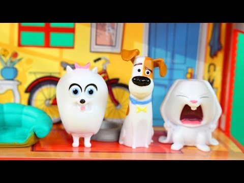 Secret Life Of Pets Mini Apertment With Gidget Snowball And Dod Max