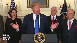 WATCH: Trump signs order punishing China on trade