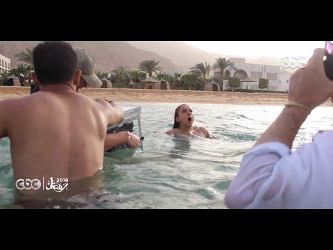 """شاهد- كيف تم تصوير مشهد غرق نيللي كريم في البحر بـ """"سقوط حر"""""""