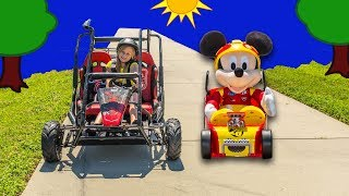 Who is the fastest Roadster Racer? Please Subscribe Here http://www.youtube.com/user/TheEngineeringFamily?sub_confirmation=1Check out our second channel - https://www.youtube.com/channel/UCPC55dCdzIjNJd421LbK3uwIn this Disney Mickey Mouse and the Roadster Racers video we're unboxing with the Assistant and Mr. Engineer the Pit Crew Tool set and racing Mickey and the rest of the Go Cart Racers! Which one will win the most races?Check out some of these other fun TheEngineeringFamily Treasure HuntsDISNEY SURPRISE TREASURE Secret Surprise Treasure with the Assistant a Disney World Video Surprise   https://youtu.be/a3c5pAJ-o-kPJ MASKS Disney Search For PJ Masks with Blaze and Paw Patrol Video  Adventure   https://youtu.be/4mV2sNE14PgAssistant Slip N Slide Bounce House Carnival Challenge Surprise Toys Video  https://youtu.be/HKE2lCvb6fMASSISTANT TREASURE HUNT Paw Patrol Look Out Hunt + toysZootopia + Lion Guard Toys Surprise Video  https://youtu.be/ECgPK35Gw3wOr these Playlists!  Funny Kids Videos     https://www.youtube.com/playlist?list=PLoLQ9unpi4OHXhaMeWT2y6P27pbuzKbckFeaturing the Assistant   https://www.youtube.com/playlist?list=PLoLQ9unpi4OGfgjxJsWnO878aLXo2TgXHAbout The Engineering FamilyWe are The Engineering Family, a family of educators working to show you how to make learning fun and engaging through toy unboxings, toy reviews, and original series designed to insight imaginative play within your family. With Mr. Engineer as an experienced engineer with a love of exploring new things, Mrs. Engineer an award winning teacher with a math and counseling focus, and their daughter The Assistant you can think of The Engineering channel as your imagination station. You can think of The Engineering Family channel as a Funbrain meets YouTube. This family is taking some of the coolest toys like Paw Patrol, Shimmer and Shine, Scooby Doo, PJ Masks, Doc Mcstuffins, and plenty of fun Real Life live action videos that help teach children valuable STEM content. As always... TheEngineeringFamily only features 100% suitable family fun entertainment.