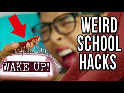 13 WEIRD School Hacks Every Student Should Know! NataliesOutlet (видео)
