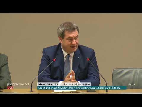 Pressekonferenz von Markus Söder zur Kandidatur für d ...