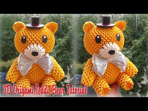 HOW TO MAKE 3D ORIGAMI TEDDY BEAR | DIY PAPER TEDDY BEAR TUTORIAL