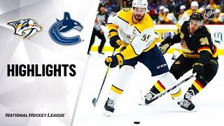 NHL Highlights | Predators @ Canucks 2/10/20