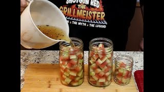 Pickled Watermelon Rind! (Sweet, Spicy, and Crunchy)