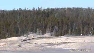 Feb 17, 2015 Upper Geyser Basin Daytime Streaming Camera Captures