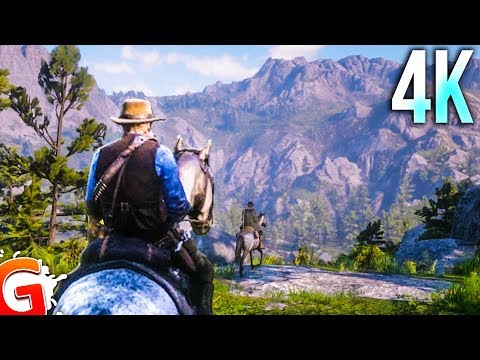 [4K] Red Dead Redemption 2 PS4 Pro Gameplay (Crazy Graphics, Wanted Hunt, Roaming)