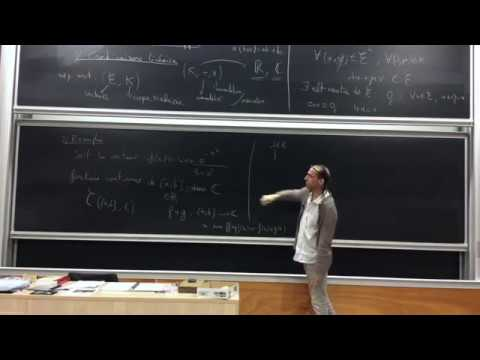 Mathématiques pour la Physique 1 (2017-2018)