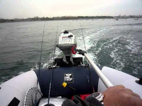ホンダ2馬力ボート走行//HONDA outboard motor 2hp