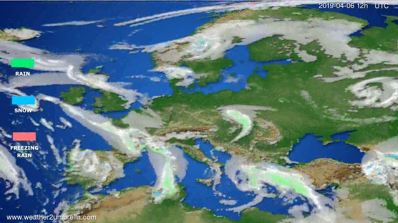 Precipitation forecast Europe // modelrun: 00h UTC 2019-04-05