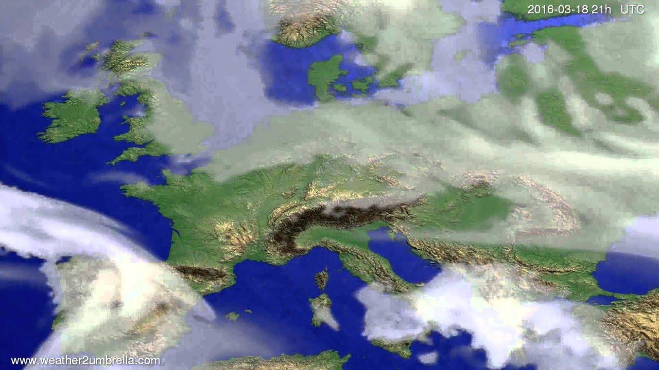 Cloud forecast Europe 2016-03-15
