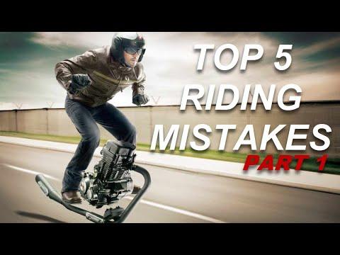 Greșeli la conducerea unei motociclete