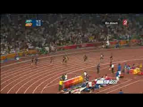 Deportista olímpico bate el record de los 200 metros planos