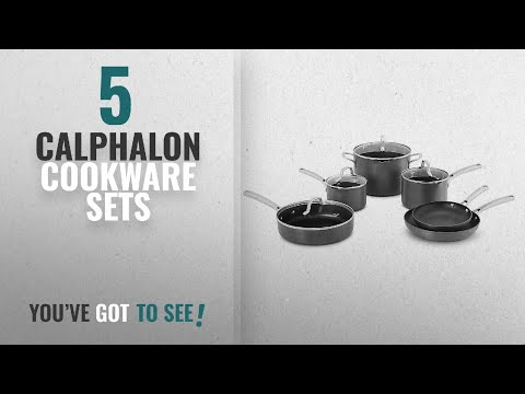 Best Calphalon Cookware Sets [2018]: Calphalon 10 Piece Classic Nonstick Cookware Set, Grey