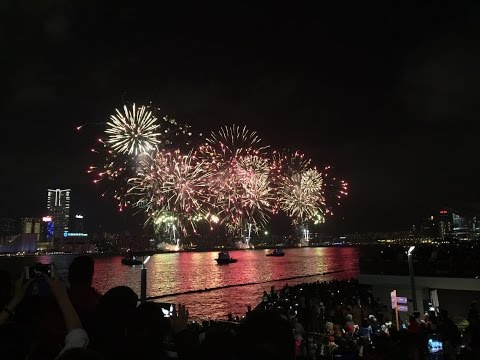 Hong Kong Chines New Year Firework 2016 - 360 Degree View
