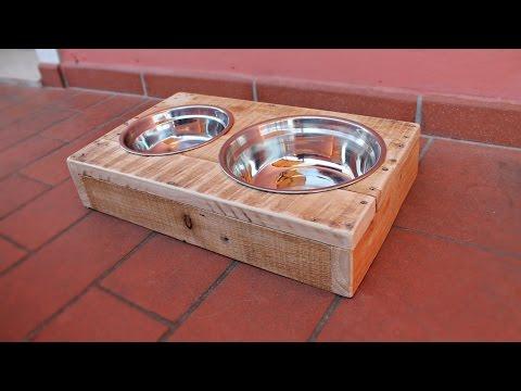 Portaciotole per cani e gatti - riciclo pallet -  Fai Da Te