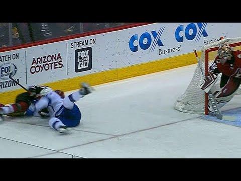 Video: Callahan and Ekman-Larsson tangled as both crash into boards hard