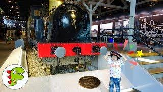 おでかけ 鉄道博物館へ行ったよ!たくさんの電車や列車があったよ! トイキッズ