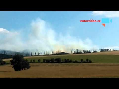 Požár lesa v Mikolajicich