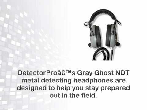 DetectorPro Gray Ghost NDT Headphone - metaldetector.com