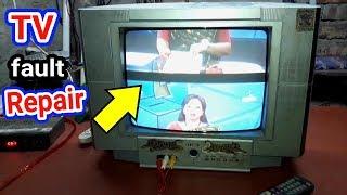 How to Repair Tv | Crt tv vertical rolling  problem |   tv repair