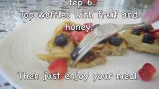 this is a video to show all you breakfast lovers to get a bit of fiber into your system. i'm not a health expert but i do truly think that these oatmeal waff...