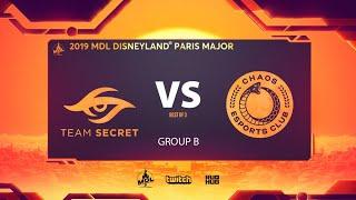 Team Secret vs Chaos, MDL Disneyland® Paris Major, bo3, game 2 [Jam & Inmate]