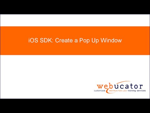 IOS SDK: Create A Pop Up Window