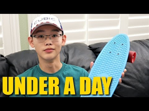 How to Ride a Skateboard in Under a Day Under 5 Minutes!