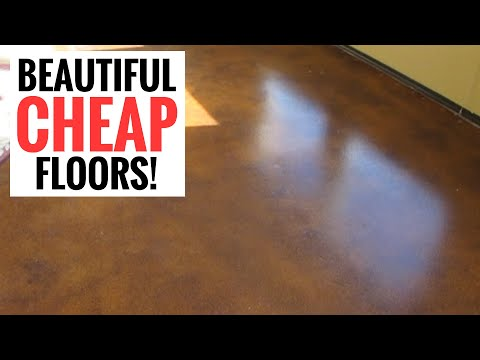 Amazingly cheap and stunning floors – DIY Stained Concrete