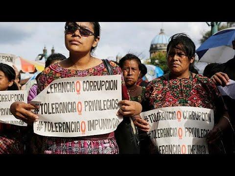 Διαδηλώσεις κατά Μοράλες στη Γουατεμάλα