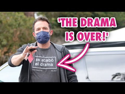 """Ben Affleck Sends Message With """"The Drama Is Over"""" T-Shirt"""