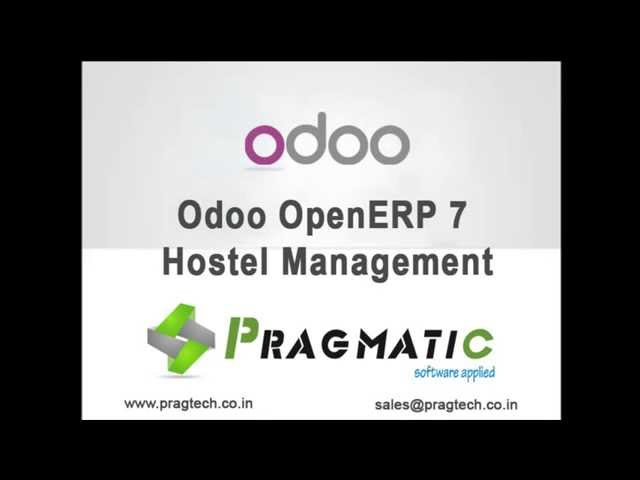 Odoo OpenERP 8 Hostel Management