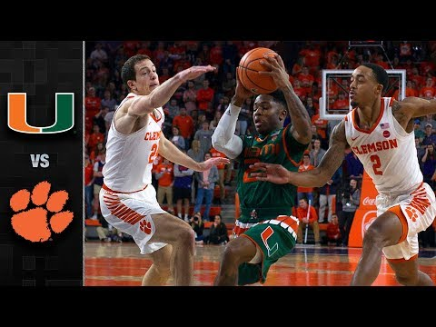 Miami vs. Clemson Basketball Highlights (2017-18) (видео)