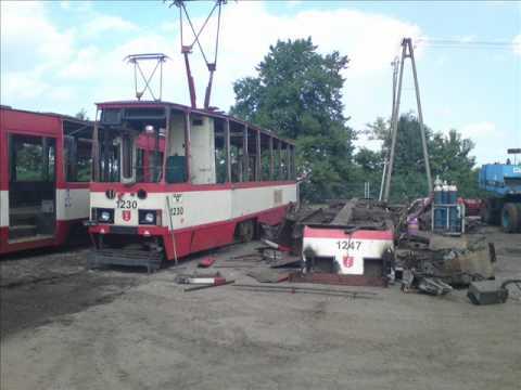 disposal of trams       utylizacja tramwajów  ZKM Gdańsk