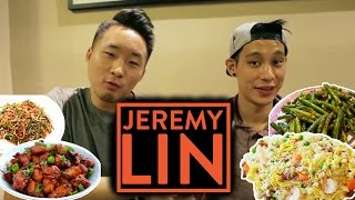 Eating Americanized Chinese Food w/ JEREMY LIN | Fung Bros