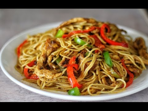 STIR-FRY CHICKEN SPAGHETTI