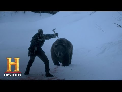 Vikings: Bjorn's Grizzly Battle (S4, E3) | History