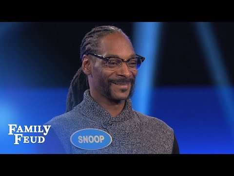 Snoop Dogg's CRAZY Fast Money! | Celebrity Family Feud | OUTTAKE (видео)