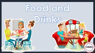 Food and Drinks Lesson with sound